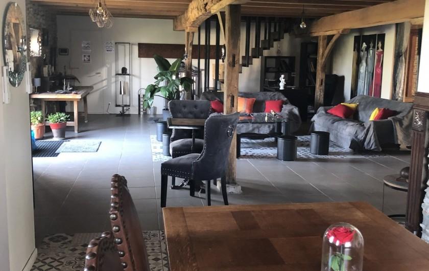 Location de vacances - Gîte à Vendine - Salon de l'entrée Nord