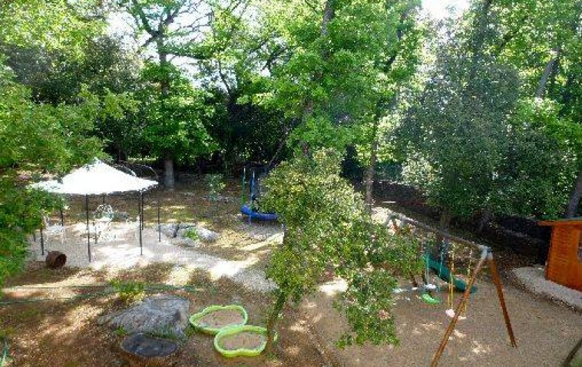 Location de vacances - Villa à Valbonne - Vus sur l'espace boisé à l'arrière