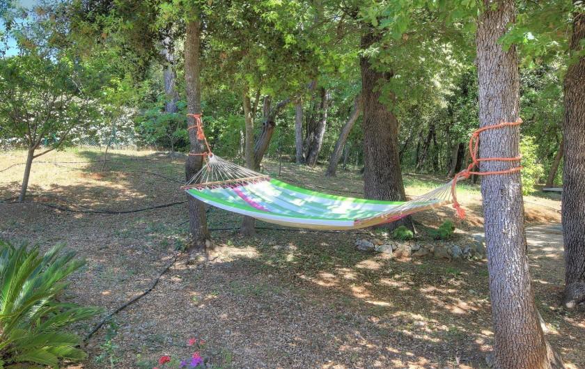 Location de vacances - Villa à Valbonne - Hamac