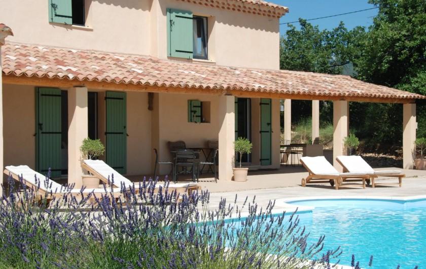 Location de vacances - Mas à Bédoin - Piscine chauffée