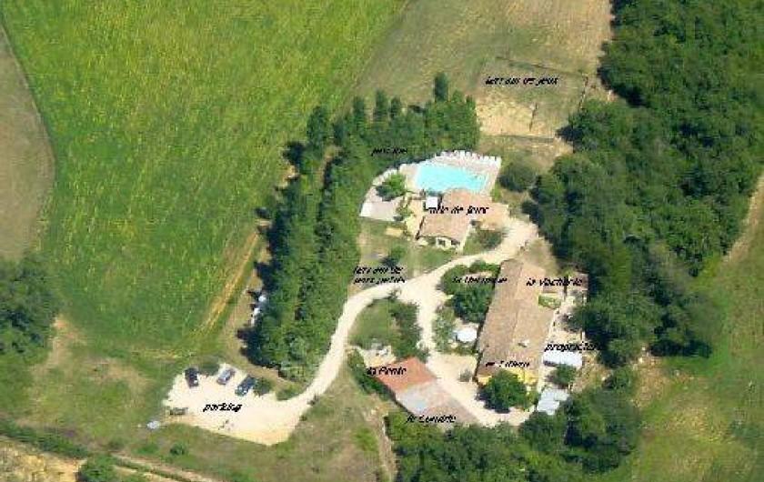 Location de vacances - Gîte à Grane - Vue aérienne du Domaine