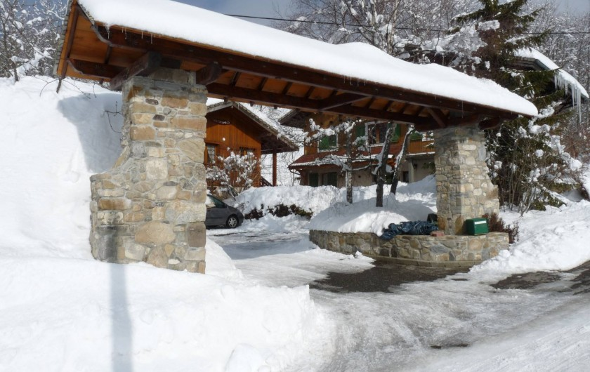 Location de vacances - Gîte à Habère-Poche - L'entrée du parking du gîte
