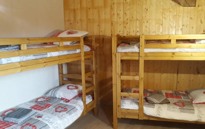 Location de vacances - Chalet à Bourg-Saint-Maurice - Chambre avec 2 lits superposés