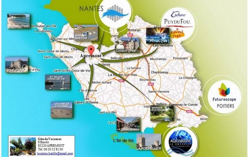 Location de vacances - Appartement à Apremont - Carte Vendée