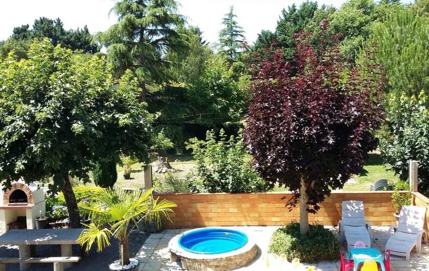 Location de vacances - Appartement à Apremont - Location 2ème terrasse avec Bassin enfants