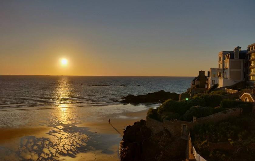 Location de vacances - Appartement à Saint-Malo - Coucher de soleil