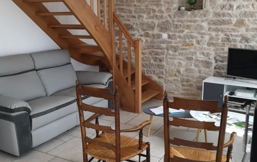 Location de vacances - Villa à Vosne-Romanée - coin salon télé par ADSL et connectée