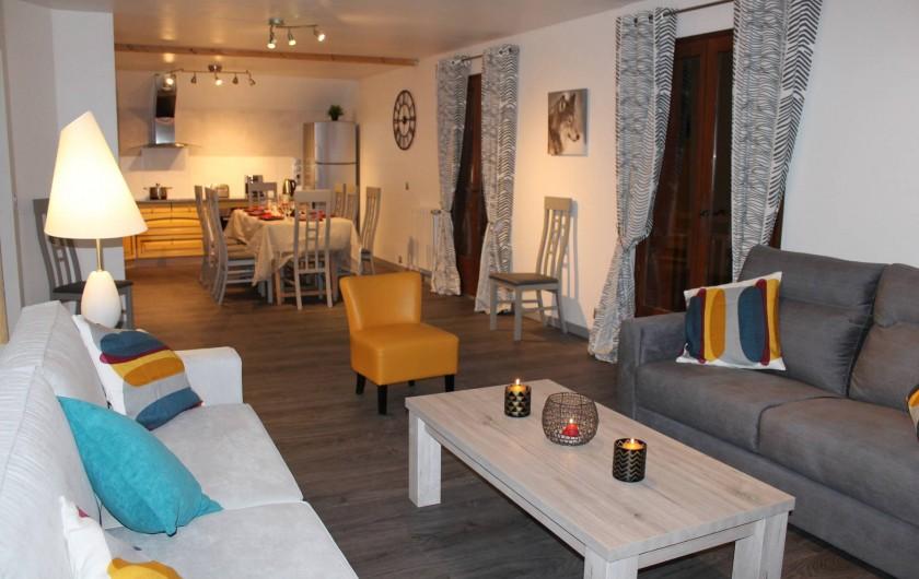 Location de vacances - Appartement à Valloire - Vue d'ensemble de la pièce de vie