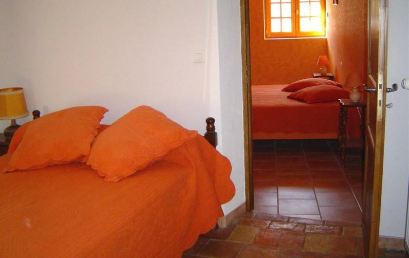 Location de vacances - Chambre d'hôtes à Chassagnes - Chambre double Lantana