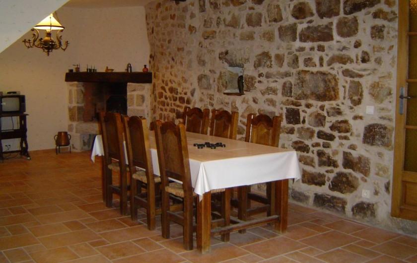 Location de vacances - Chambre d'hôtes à Chassagnes - Séjour des chambres d'hôtes