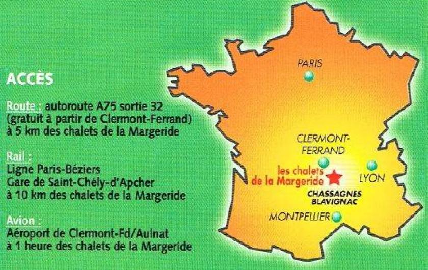 Location de vacances - Chalet à Blavignac - Pour vos réunions de famille, une position relativement centrale