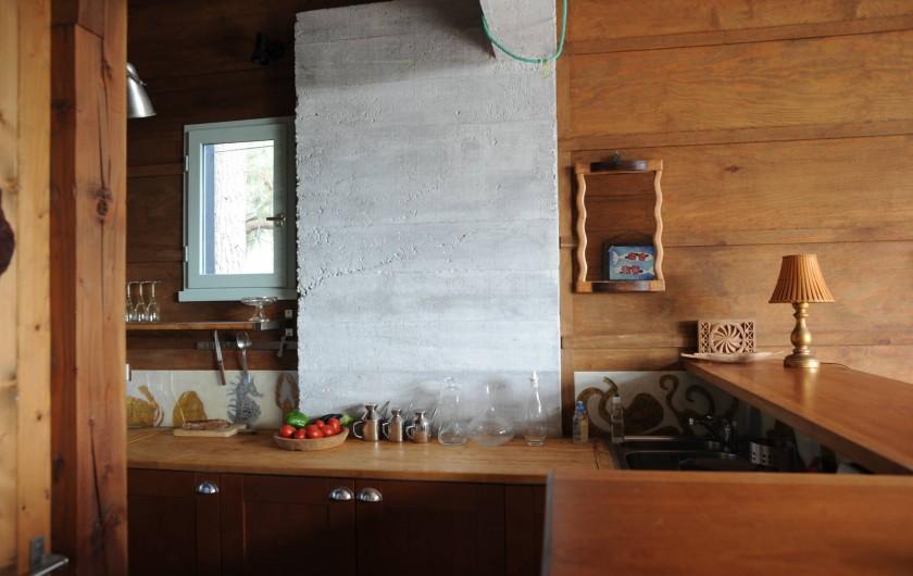 Location de vacances - Chalet à Le Cap Ferret - Coin cuisine américaine .