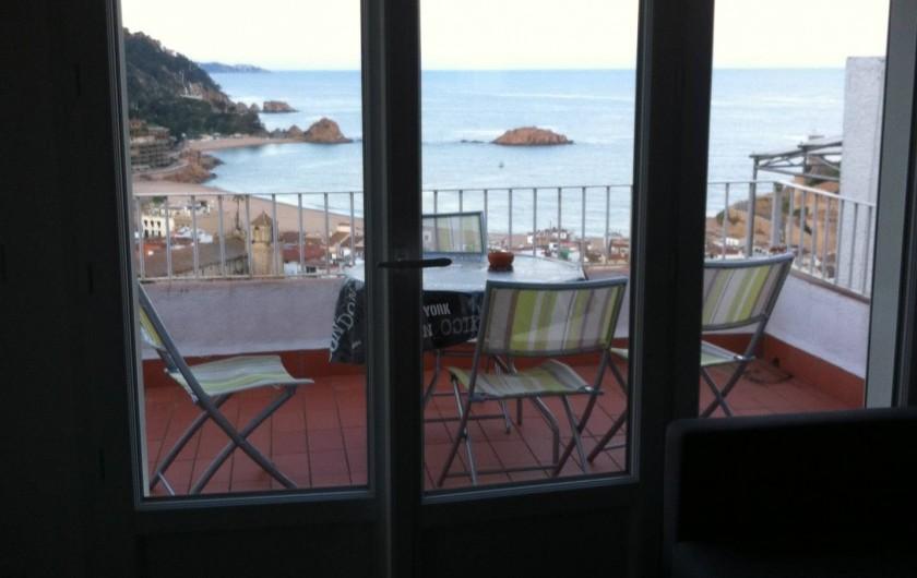 Location de vacances - Appartement à Tossa de Mar - VUE DEPUIS LA SALLE