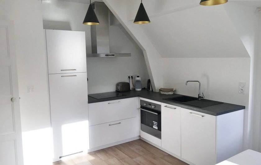 Location de vacances - Appartement à Bénodet - Cuisine appartement 6 personnes avec terrasse privée Le Hook