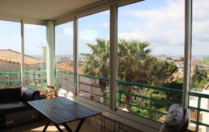 Location de vacances - Appartement à Sète - loggia de 10 m2 vue mer et Ethan