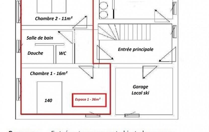 Location de vacances - Chalet à Le Haut-Bréda - Plan et literie