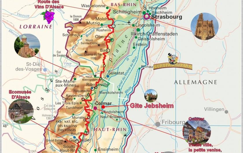 Location de vacances - Villa à Jebsheim