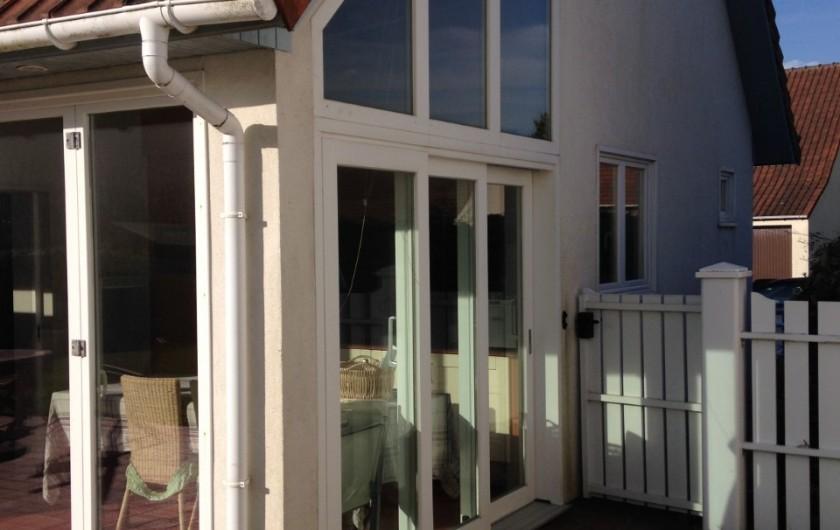 Location de vacances - Villa à Le Touquet-Paris-Plage - baies vitrées cuisine ouvrantes entièrement