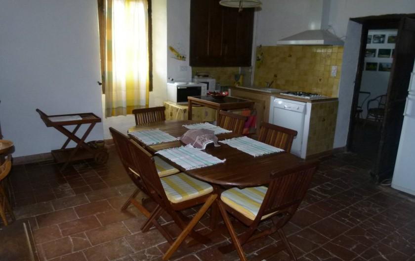 Location de vacances - Maison - Villa à Ornézan - cuisine avec son équipement