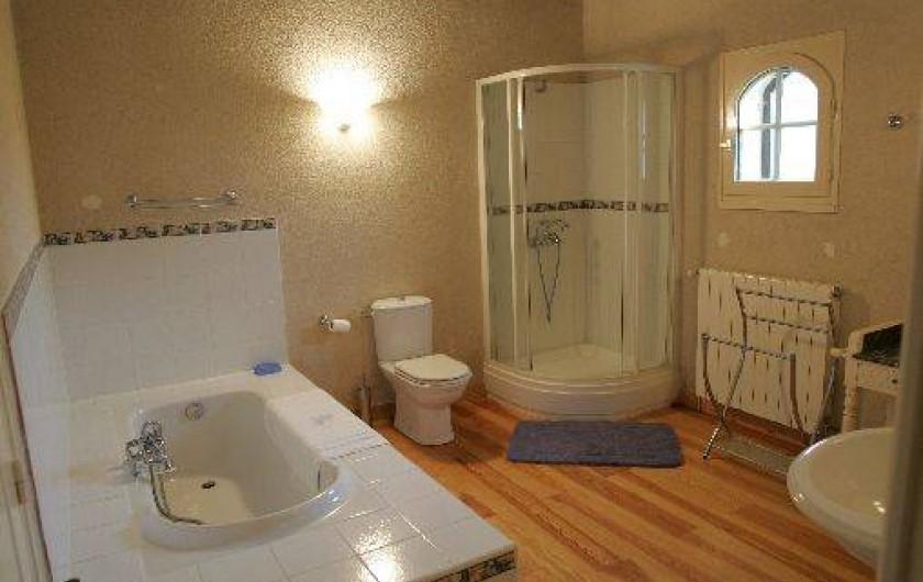 Location de vacances - Gîte à Beylongue - salle bain rez