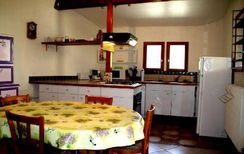 Location de vacances - Gîte à Saint-Paul-le-Jeune - Gite Le Lavoir  cuisine
