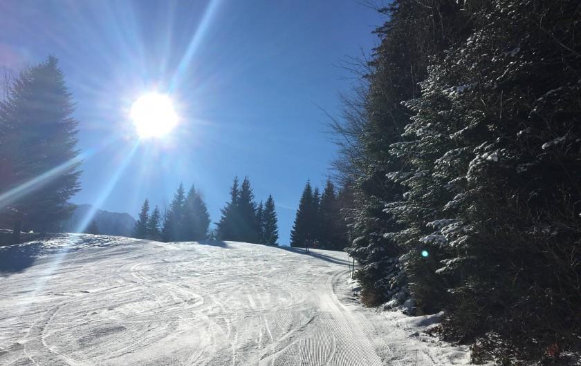 Location de vacances - Chalet à Les Avanchers-Valmorel - la piste de Doucy
