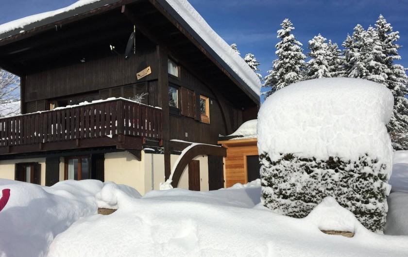 Location de vacances - Chalet à Les Avanchers-Valmorel - hivers 2019 enneigement à 1.35 mètre pieds du chalet