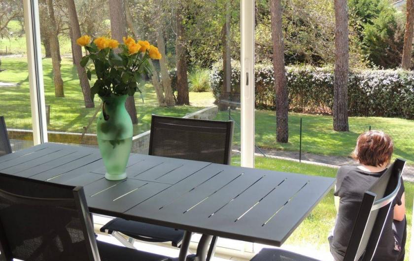 Location de vacances - Appartement à Moliets-et-Maa - Terrasse véranda