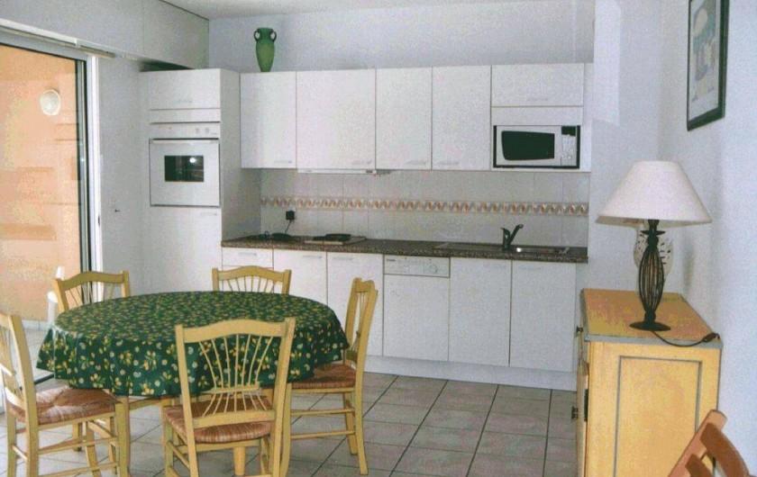 Location de vacances - Appartement à Moliets-et-Maa - Côté cuisine
