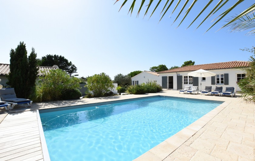 Location de vacances - Villa à Sainte-Marie-de-Ré - Maison côté Piscine