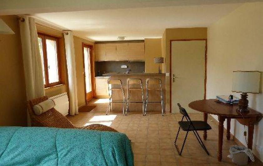 Location de vacances - Chalet à Briançon - coin salon et cuisine studio
