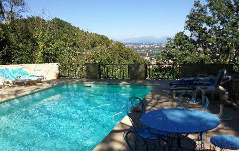 Location de vacances - Appartement à Le Teil - Piscine avec vue