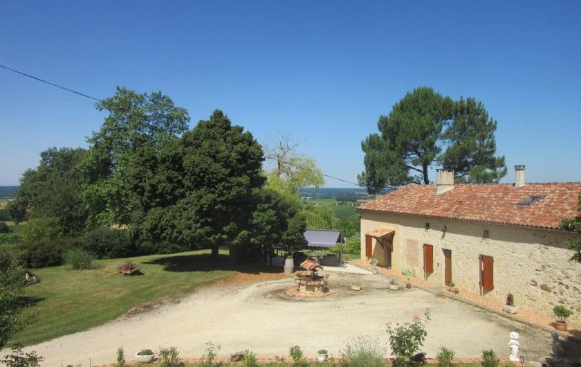 Location de vacances - Gîte à Fourcès - VUE VERS LE PROPRIÉTAIRE