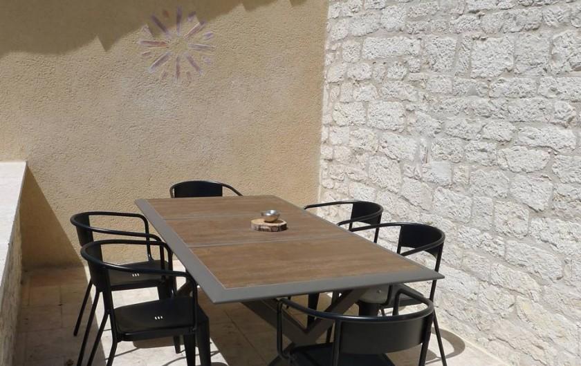 Location de vacances - Mas à Labastide-Marnhac - Terrasse extérieure haut