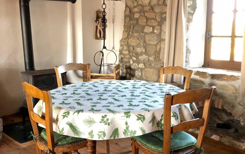 Location de vacances - Mas à Sécheras - Salle à manger séjour