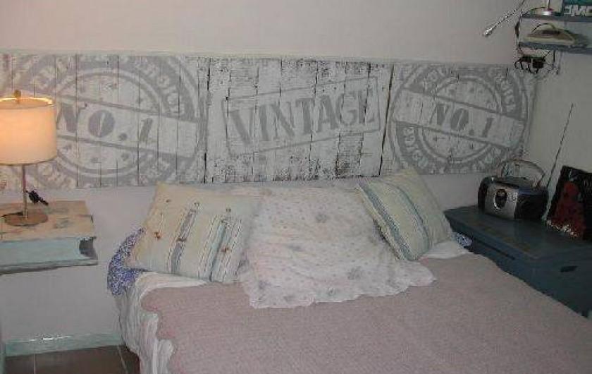 Location de vacances - Villa à Piriac-sur-Mer - Petite chambre au rez-de-chaussée avec lit larg.120.