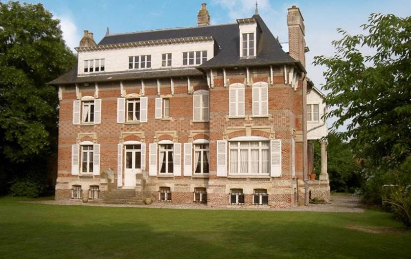 Location de vacances - Maison - Villa à Dury - Façade coté jardin