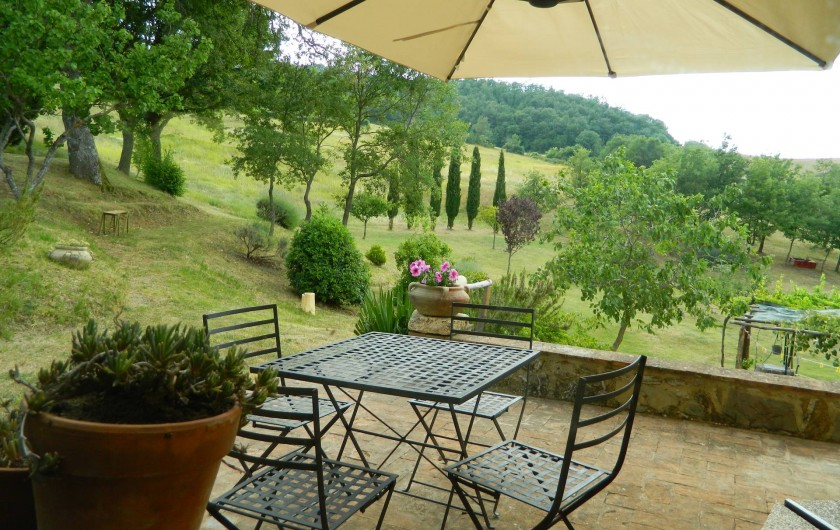 Location de vacances - Gîte à Campiglia D'orcia - Terrazza-giardino Casa Letizia