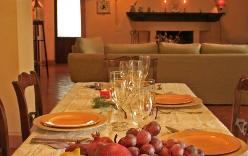 Location de vacances - Gîte à Campiglia D'orcia - tavolo da pranzo Casa Claudia