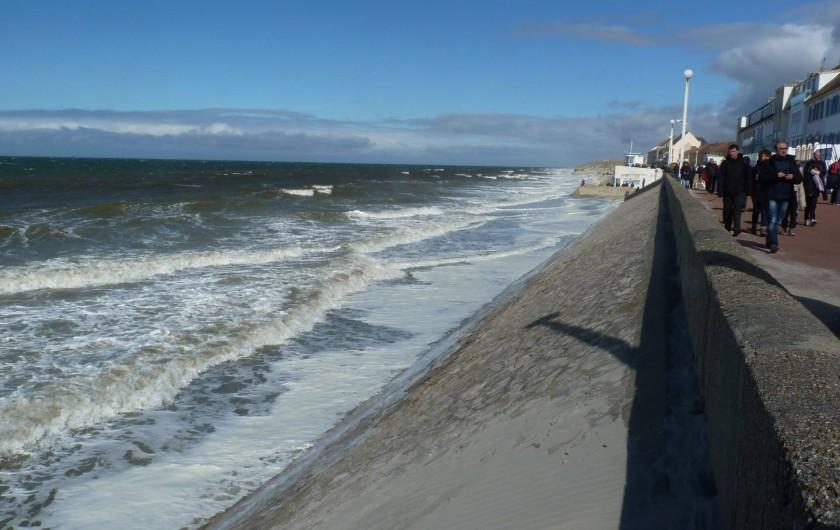 Location de vacances - Appartement à Fort-Mahon-Plage - Plage de Fort-Mahon, marée haute
