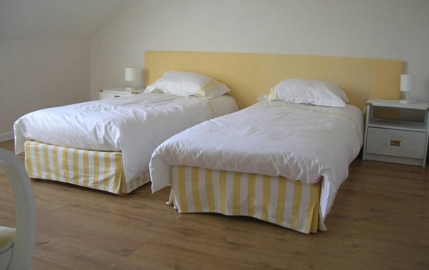 Location de vacances - Villa à Piriac-sur-Mer - chambre 3 vue mer soit 2 lits de 80
