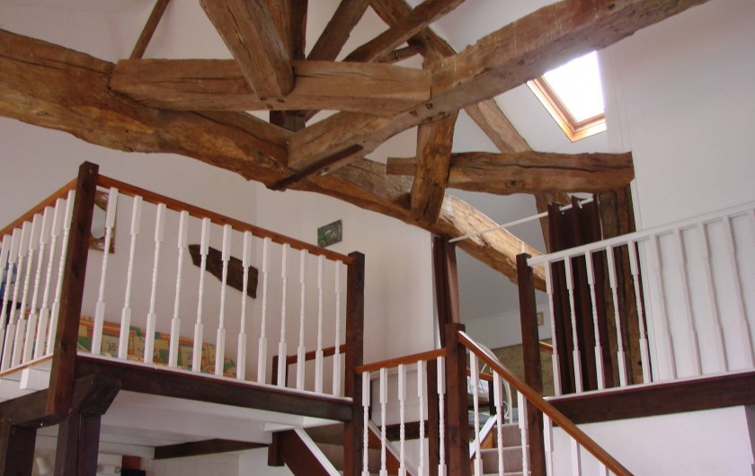 Location de vacances - Gîte à Justian - Mezzanine et chambre pour 2 personnes au 1er étage dans notre gîte d'Artagnan