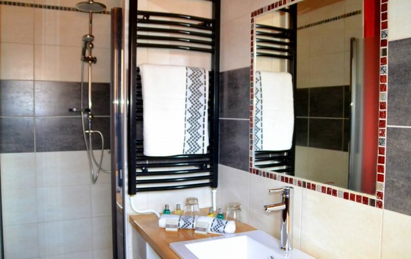 Location de vacances - Chambre d'hôtes à La Salle-les-Alpes - Salle de bain privée dans chaque chambre