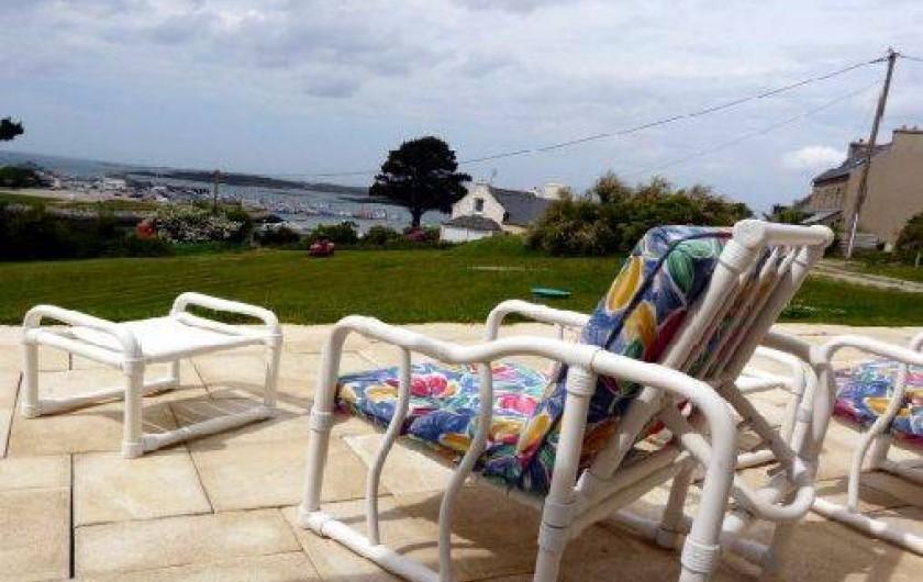 Location de vacances - Villa à Landéda - Terrasse vue mer