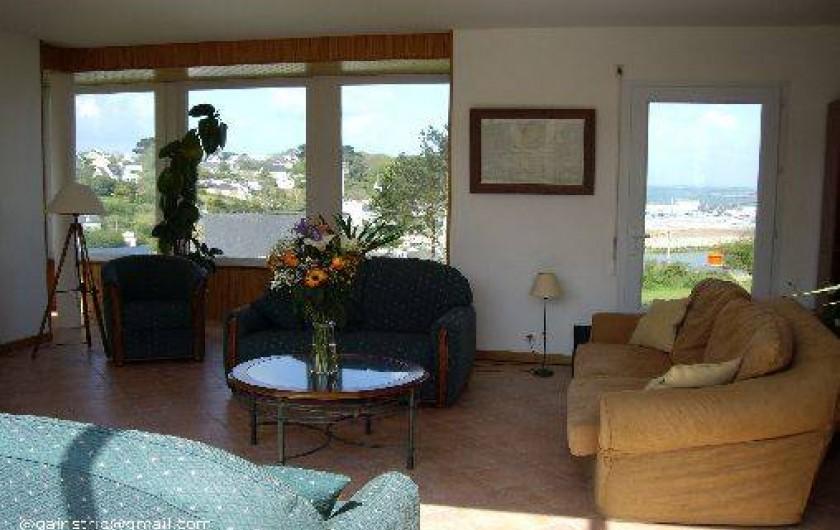 Location de vacances - Villa à Landéda - Salon (10 places sur canapés)