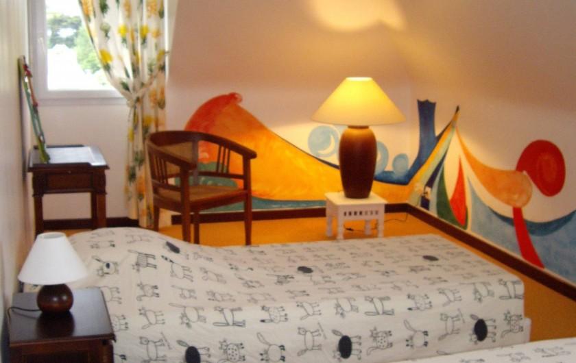 Location de vacances - Villa à Landéda - Chambre lits jumeaux