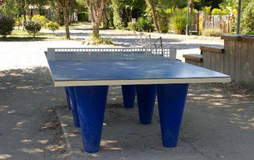 Location de vacances - Bungalow - Mobilhome à Grayan-et-l'Hôpital - Terrain de pétanque, table de ping pong