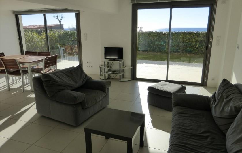 Location de vacances - Appartement à Soorts-Hossegor - appartement n°1: séjour salon