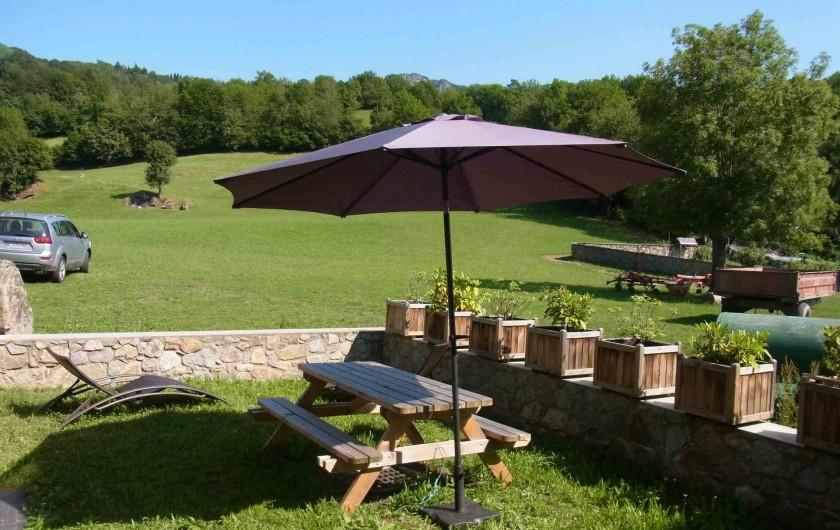 Location de vacances - Gîte à Arrens-Marsous - Le jardin