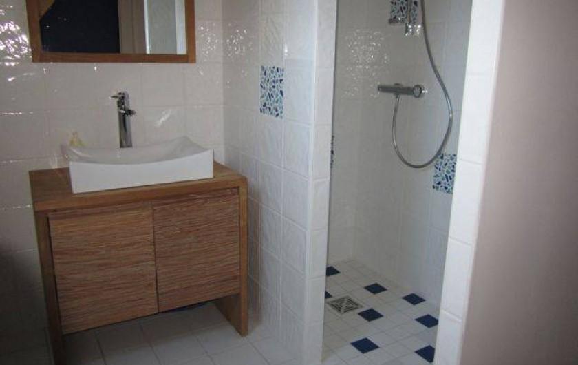 Location de vacances - Gîte à Arrens-Marsous - La salle de bain et la douche à l'italienne